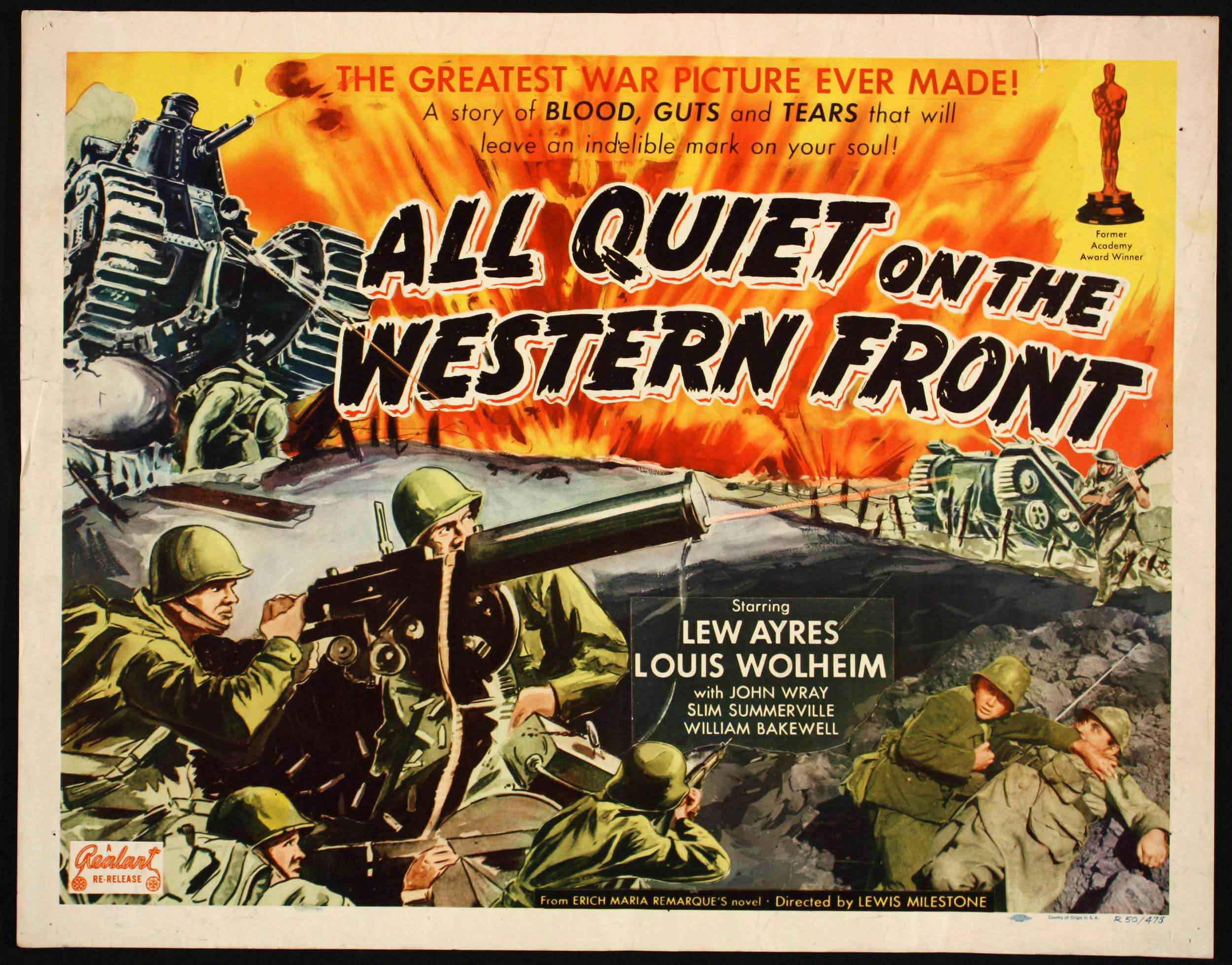 HOLLYWOODLANDAll Quiet on the Western Front (1930)Post navigationWelcome Film Fans!Browse Through Classic Film Posters: Recent ReviewsCategoriesRecent CommentsBlog StatsArchives